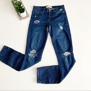 GAP 1969 | Distressed Riped Plaid Patched Jeans